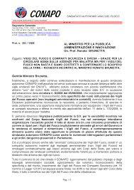 Gentile Ministro Brunetta, AL MINISTRO PER LA PUBBLICA AMMINISTRAZIONE E  INNOVAZIONE On. Prof. Renato BRUNETTA