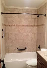 tile tub surround beige tile bathtub surround with oil rubbed bronze fixtures