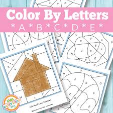 Practice sounds associated with each letter. Color By Letters A B C D E Free Kids Printable