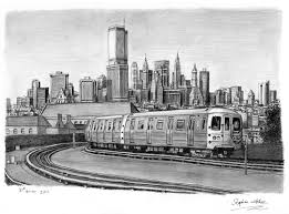 subway train drawing. Interesting Train New York Subway Train Throughout Drawing