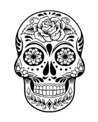 Small Picture Sugar Skull Coloring Pages Sugar skull design Skull design and