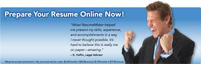 resumemaker com   write a better resume  get a better job