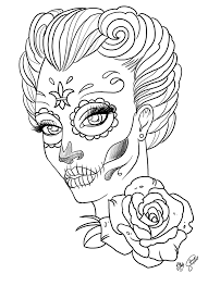 Small Picture Coloring Pages Coloring Pages For Adult Tattoo Sugar Skull