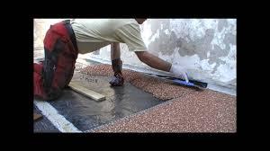 Steinteppich, Steinchenboden, Kieselbeschichtung Verlegeanleitung