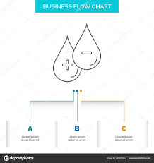 Blood Drop Liquid Business Flow Chart Design Steps Line Icon