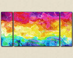 colorful abstract large bright wall art stretched canvas print painting rainbow connection ready to hang on  on colorful wall art canvas with wall art best sample ideas bright wall art bright paintings bright