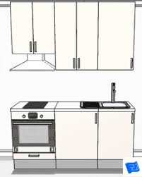 Delightful Tiny Galley Kitchen Design 3D ...