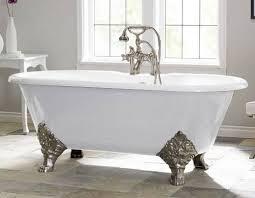 cast iron bathtub.