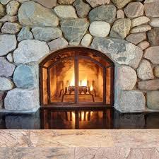 Black Fireplace Doors