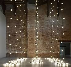 string lights hanging partition