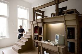 Advertising office interior design Workspace View In Gallery Homedit The Cardboard Office Interior Design For Advertising Agency Nothing