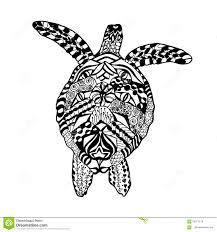 черепаха Zentangle стилизованная эскиз для татуировки или футболки