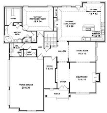 Two story bedroom    bath traditional style house    First Floor