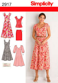 Patterns For Dresses Amazing Simplicity Pattern S48 Misses' Plus Size Dresses Jaycottsco
