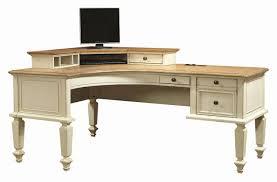 curved l shaped desk luxury curved half pedestal l shaped desk and corner hutch with 1