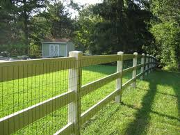 Garden Wire Fencing Rustic 4 Board Fence Stained Black with Black