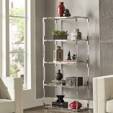 Cyrus Clear Chrome Corner Mirrored Shelf Bookcase by iNSPIRE Q Bold - Free  Shipping Today - Overstock.com - 21781606