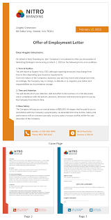Write an email to your boss explaining the benefits for the employees and.? Colorful Branding Job Offer Letter Template