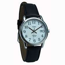 amazon com timex indiglo watch mens chrome leather band timex indiglo watch mens chrome leather band