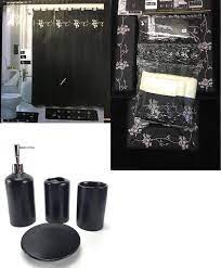 22 Piece Bathroom Sets With Shower Curtains Rugs And Accessories