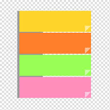 Four Yellow Orange Green And Pink Chart Illustration