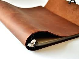 leather binders 3 ring woodsman soft binder notebooks custom journals leather binders