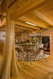 Log cabin interiors designs Homes Log Cabin Interior Design Cypress Cabin Interior Brings The Outdoors Inside Log Cabin Connection Cabin Interior Design Blends Form And Function