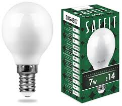 <b>Лампа светодиодная Saffit</b> SBG4507 55035, E14, G45, <b>7Вт</b> ...