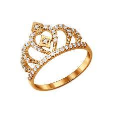 <b>Позолоченное кольцо корона SOKOLOV</b> – купить в официальном ...