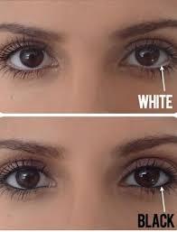 white eyeliner makes eyes look bigger