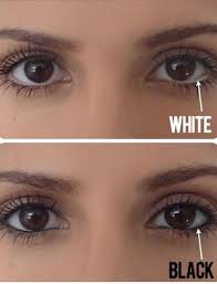 white eyeliner makes eyes look bigger