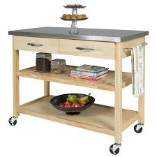 interesting simple wooden kitchen utility cart sophisticated gray silver top table with iron bar handle also drawers with 2 drawers and wooden