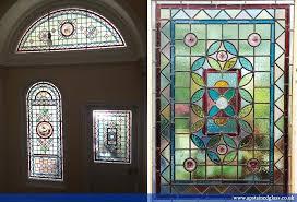 front doors stained glass leaded reclaimed door