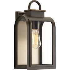 progress lighting refuge 16 in h oil rubbed bronze outdoor wall light