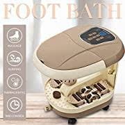 ReviewMeta.com: Natsukage All in One Luxurious Foot Spa Bath Massager  Motorized Rolling Massage Heat Wave Digital Temperature Control LED Display  Fast US Shipping (Type 6) Amazon Review Analysis