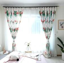 white tropical palm tree leaf pink flamingo curtains girls palm tree curtains white tropical palm tree
