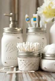 mason jar bathroom storage accessories