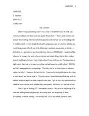 wrt analytical paper draft sarah song wrt t 3 pages wrt 07 05 07 personal essay