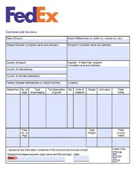 ups commercial invoice template free fedex commercial invoice template excel pdf word doc