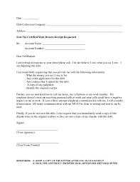 dept collection letter debt harassment template letter samples letter template collection