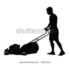 commercial lawn mower silhouette. pin men clipart mowing lawn #13 commercial mower silhouette
