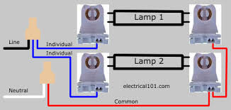 direct wire dual ended led tube lights 2 lamps electrical 101 2 lamp led dual ended parallel ballast lampholder wiring diagram