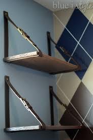 leather hanging belt shelves