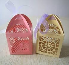 Decorative Cupcake Boxes laser cut custom cupcake boxes wholesale wedding box candy filled 2
