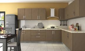 Kitchen:Futuristic Kitchen Design With Unique Rug And L Shape Brown Kitchen  Cabinet Decorating Ideas