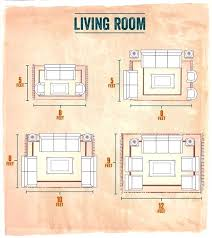 area rug sizes for living room typical rugs size standard