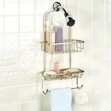 pristine shower satin gold rust free caddy croydex chrome plated metal storage teak tension rustproof shower rust free caddy