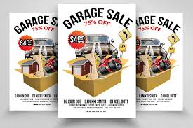 Garage Sale Flyer Print Templates