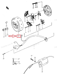 Get quotations · suzuki mag o rotor for ts250 pn 32102 16421