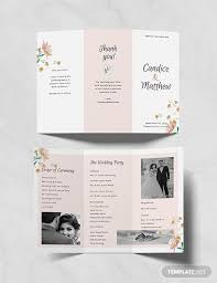 Free Tri Fold Wedding Program Template Download 31 Program